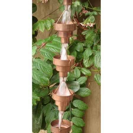 Monarch Pure Copper Bamboo Rain Chain 8 1 2 Feet Length Walmart Com Rain Chain Copper Rain Chains Rain Gutter Chains