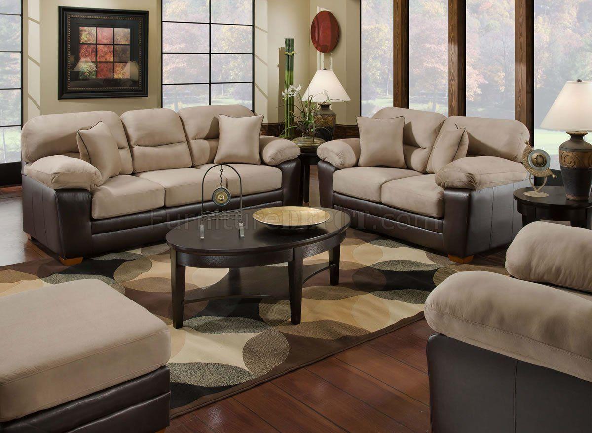 Bon Microfiber Sofa And Loveseat Set