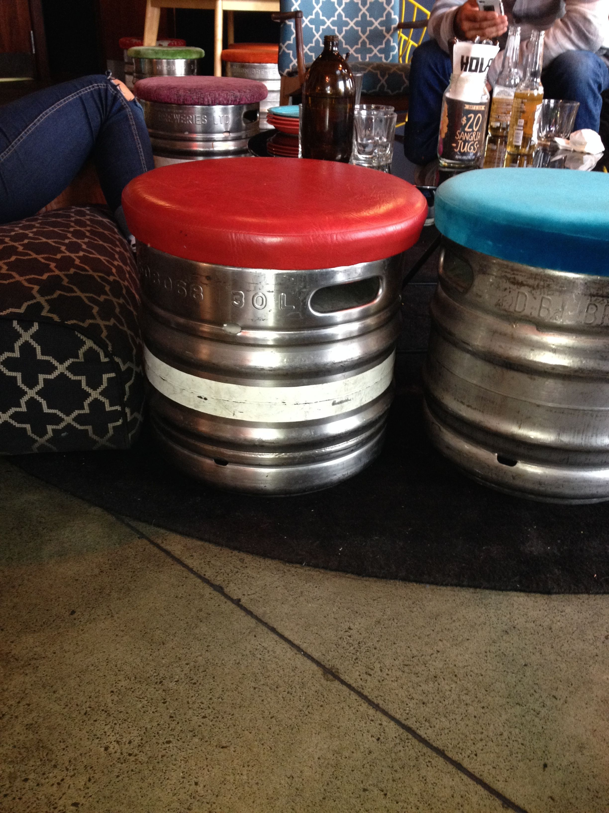 Keg seats....genius | house | Pinterest