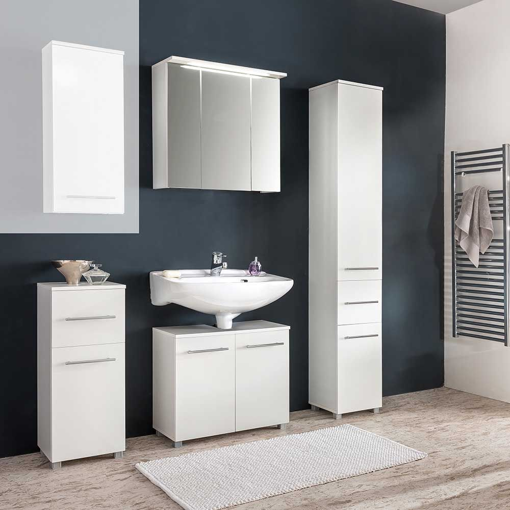 Badezimmer Kombination in Weiß online bestellen (4-teilig) Jetzt ... | {Möbel bad 4}