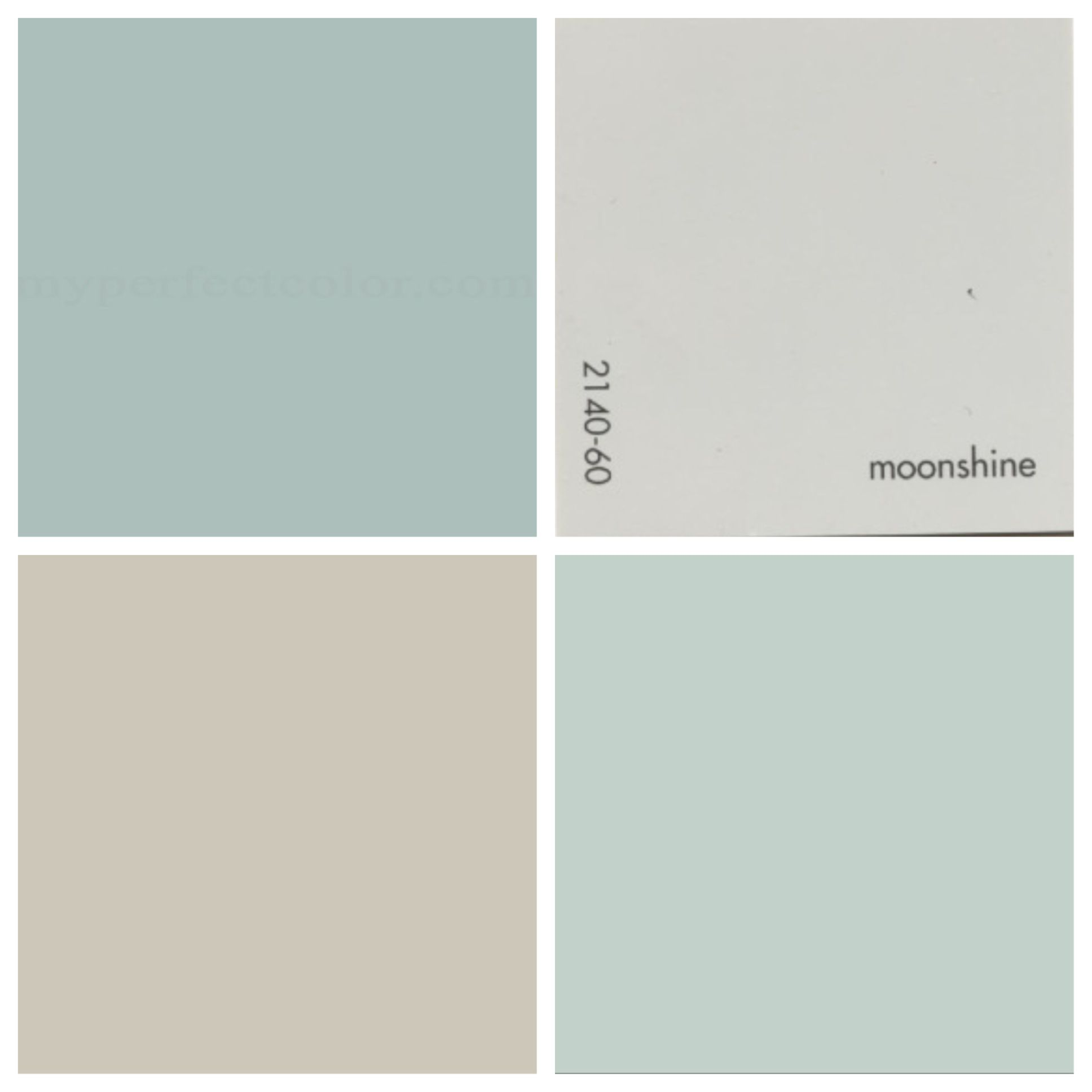 House Colors Top Left Wedgewood Gray Top Right Moonshine Bottom