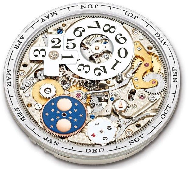 A Lange Caliber L082-1 dial side detail