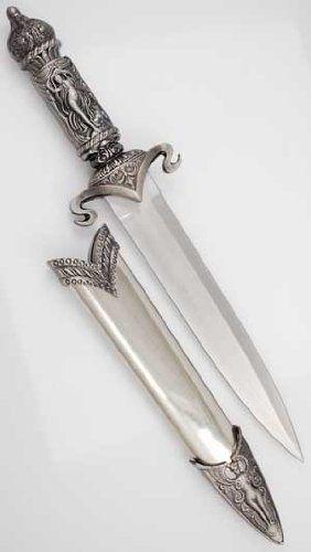 Decorative fantasy dagger with sheath Athame dagger knife,damascus dagger