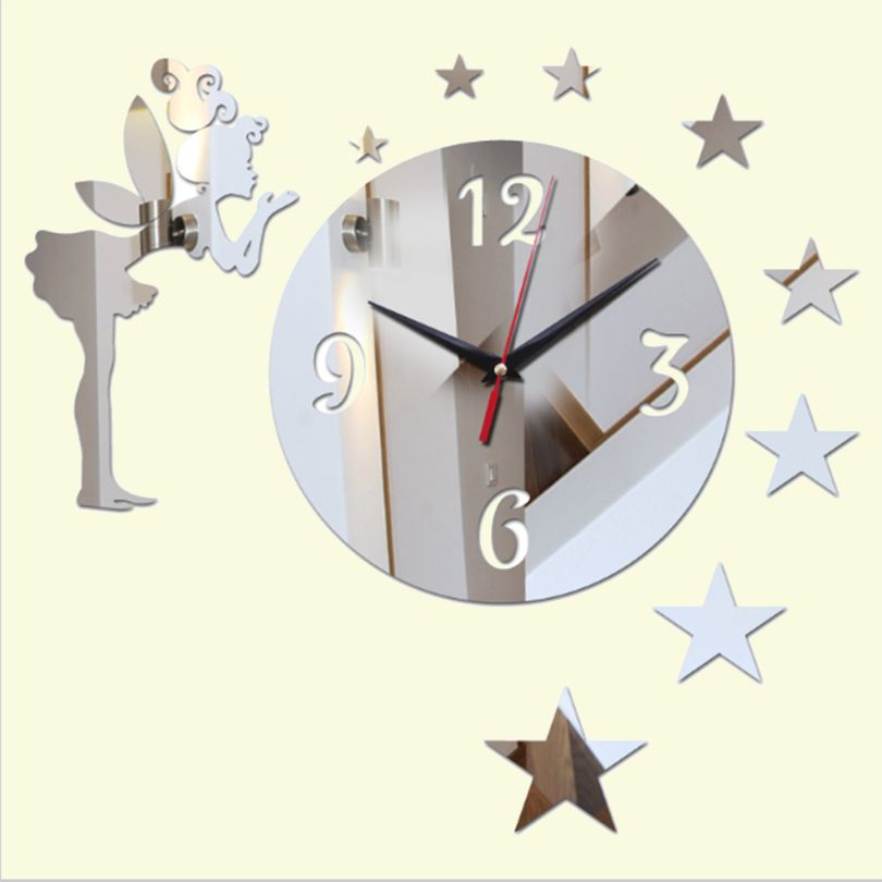 Bild von [US $5.49] Masi Rui top 3d diy acrylic mirror sticker wall clocks
