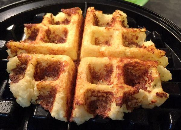 Low Carb Cauliflower Waffle Rolls -- An Easy, Savory, Gluten Free Recipe!