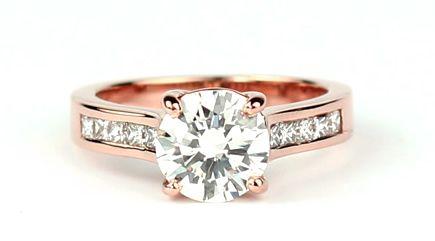 Beautiful rose gold engagement ring Jewelry Pinterest