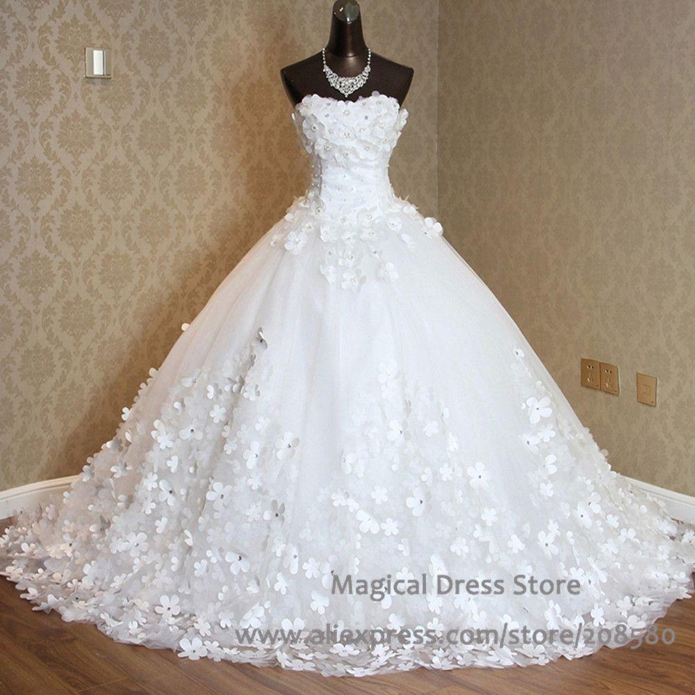 ccd5cb1f6 vestidos de novia corte princesa con cola larga - Buscar con Google ...