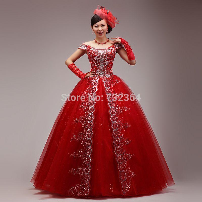 full-rhinestone-red-queen-medieval-dress-sissi-princess-Medieval ...