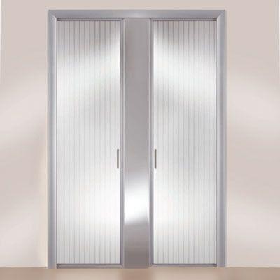 Puerta corredera de pl stico trasl cido cocina - Puertas correderas de plastico ...