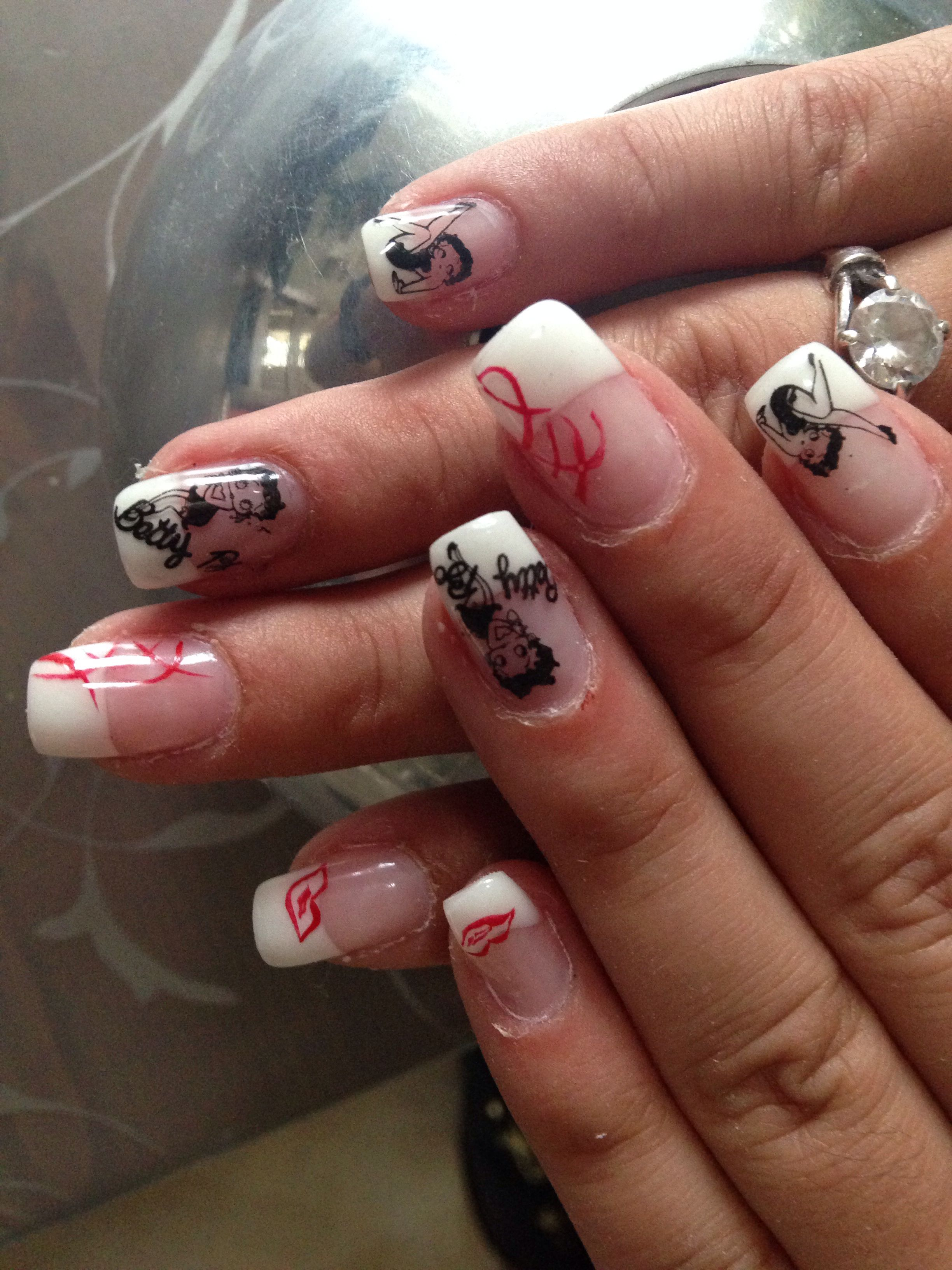 Betty Boop Nails Betty Boop Pinterest Betty Boop And Beautiful