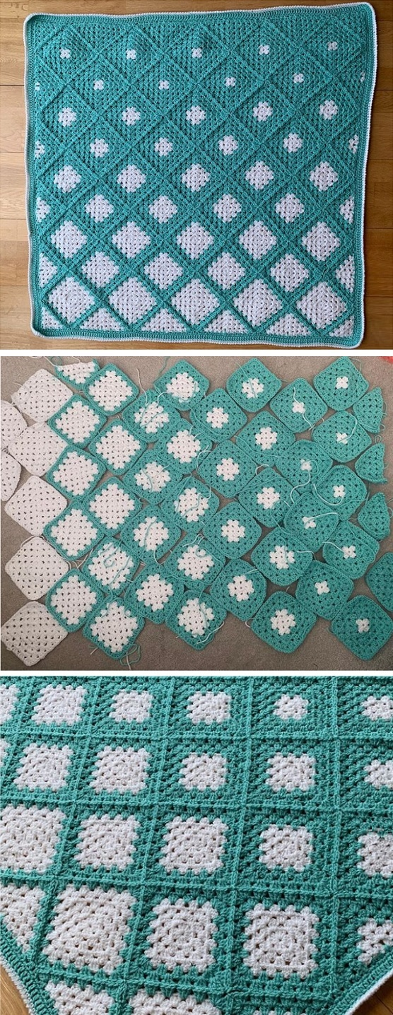 Crochet Granny Squares Into a Blanket - Design Peak