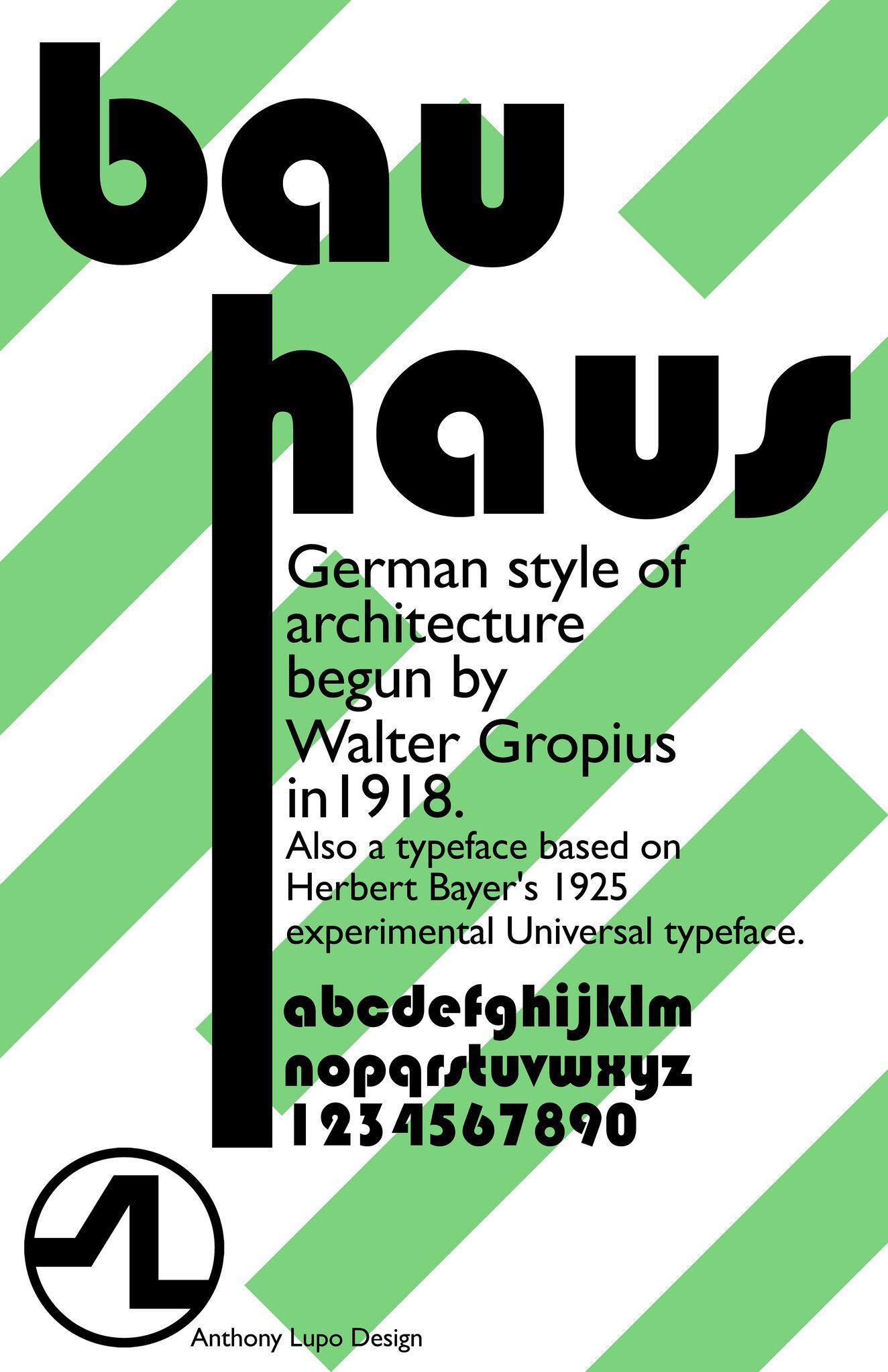 Bauhaus Typography Typography Herbert Bayer Design