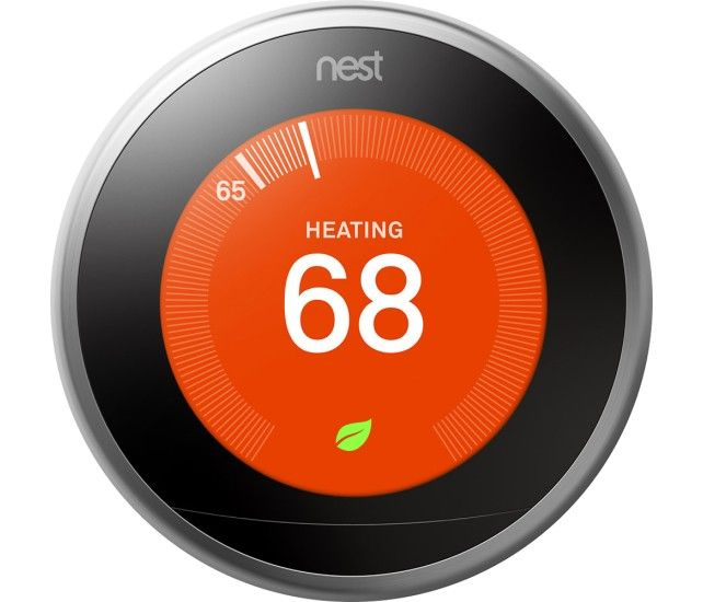 Nest Learning Thermostat 3rd Generation Stainless Steel Front Zoom Nest Smart Thermostat Nest Thermostat Nest 3rd Generation