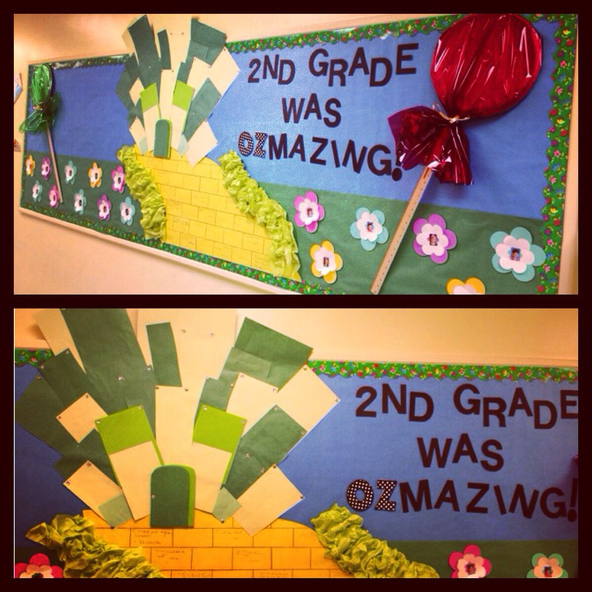 End of the year bulletin board. Wizard of Oz theme j | Classroom ...