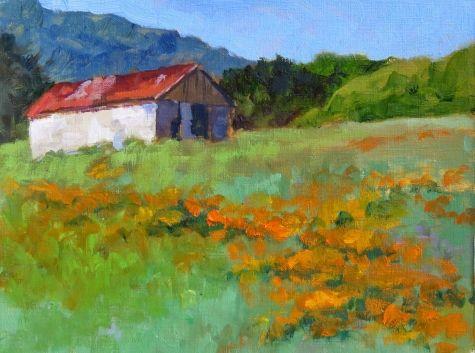 Hillside of Poppies -- Pam Holnback