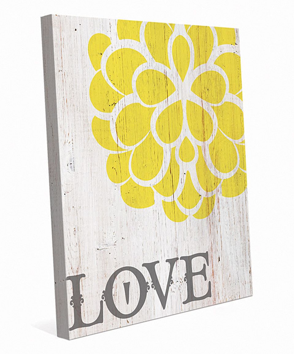 Look what I found on #zulily! \'Love\' Wall Art by Image Canvas ...