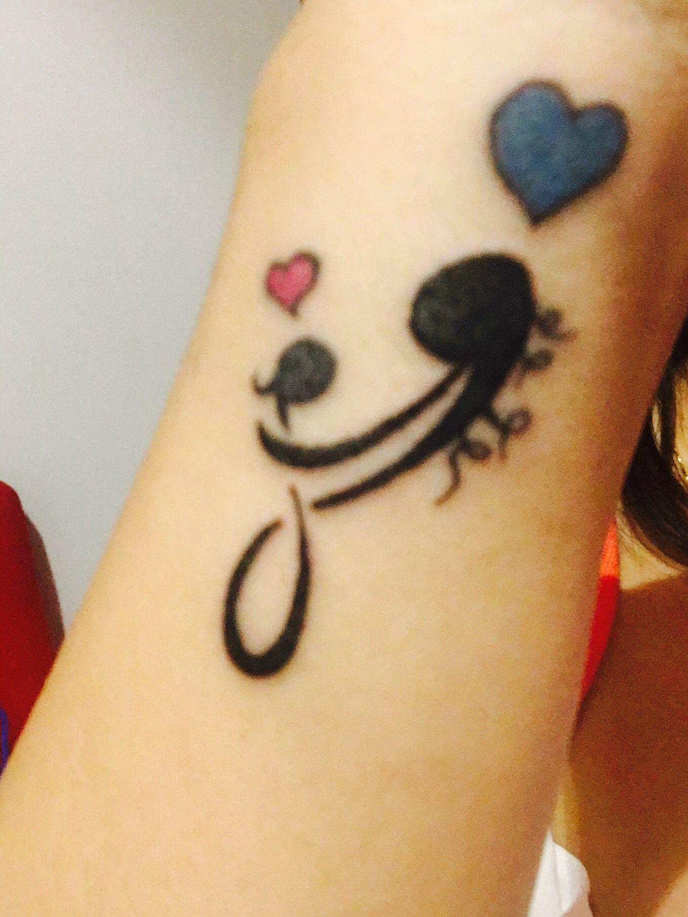 Mi Tatuaje Que Simboliza La Maternidad El Amor La Proteccion Y La Union Q Tenemos Para Siempre Mi Hija Y Yo Paw Print Tattoo Tattoos Print Tattoos