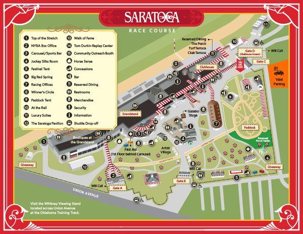 Saratoga Race Track Map 2015Sar_Facility_Map_image | horse racing | Pinterest | Racing  Saratoga Race Track Map