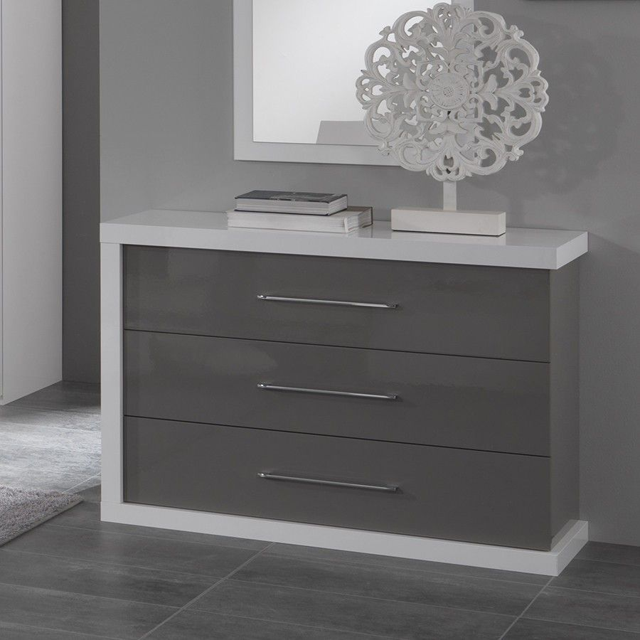 Redoutable Meuble Commode Design D Coration Fran Aise  # Commode Laquee Blanche Avec Tiroirs Rabattables