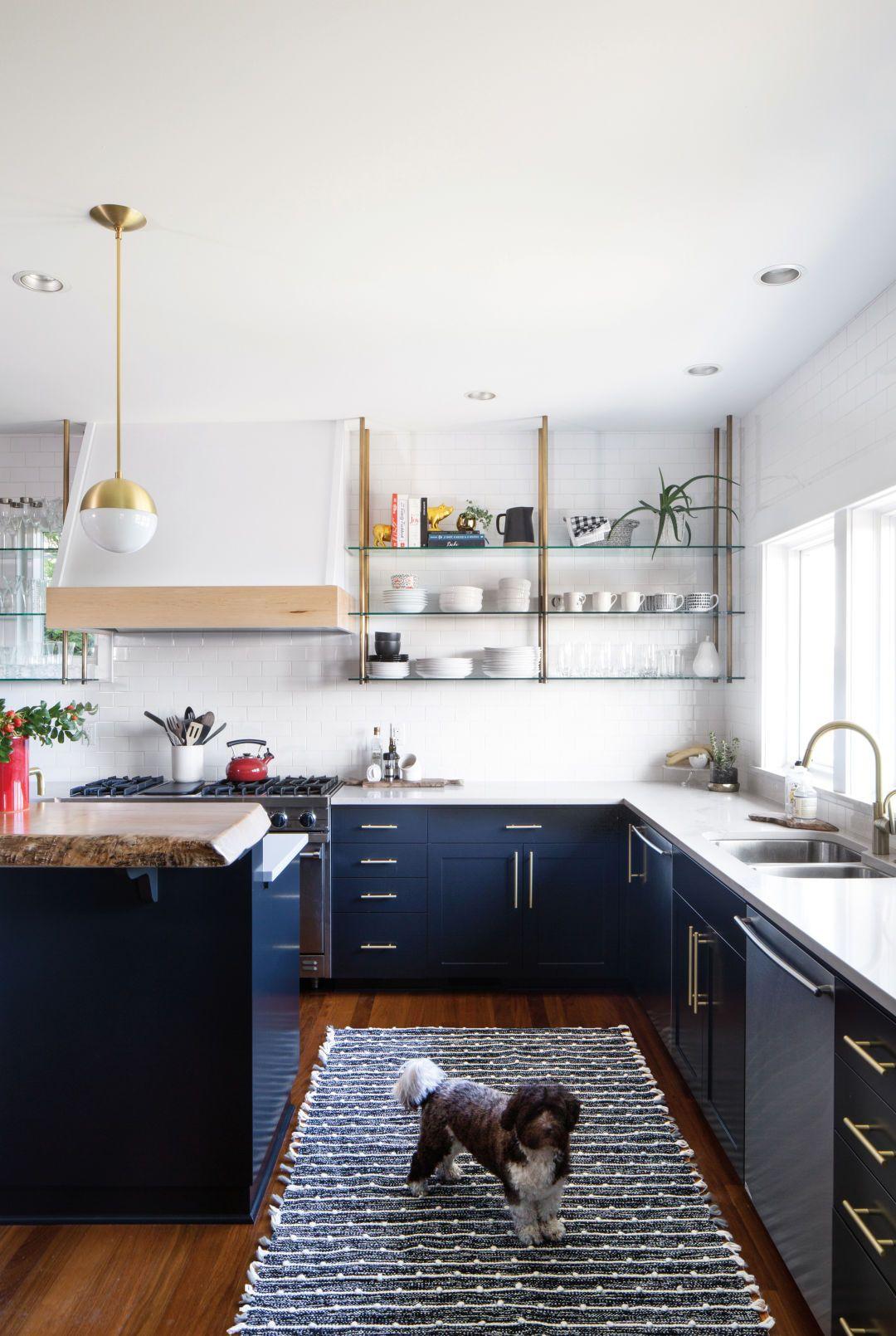 Rejuvenating Work Arounds Brighten A Magnolia Kitchen With Images Blue Kitchen Decor Kitchen Decor Kitchen