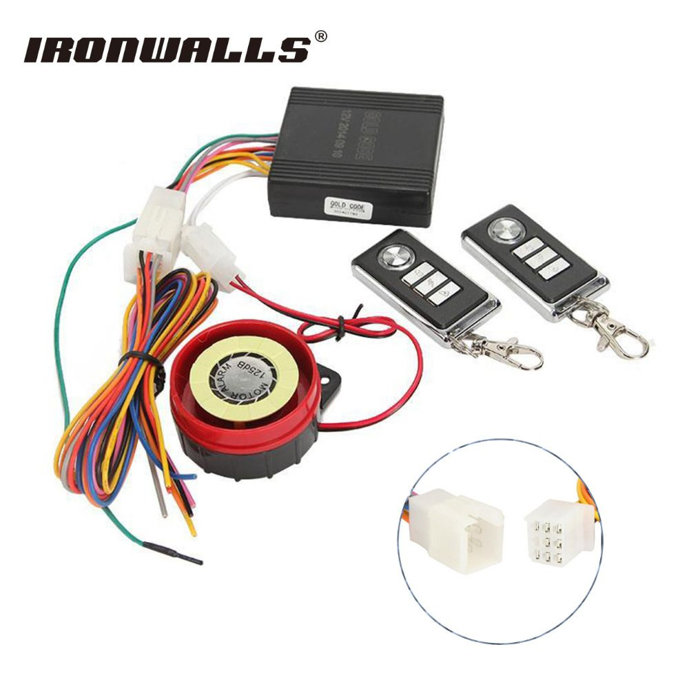 sale ironwalls motorcycle alarm system 12v moto scooter security ...