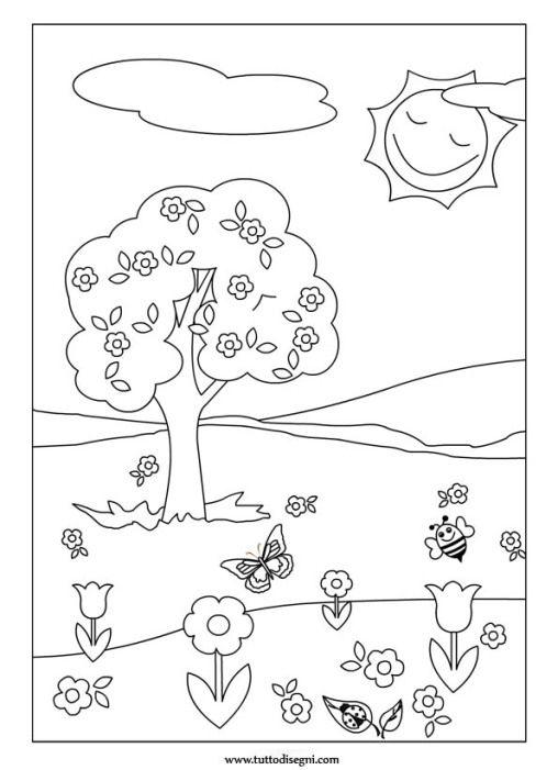 Paesaggio Primavera 2 Disegni Da Colorare Estate Disegni