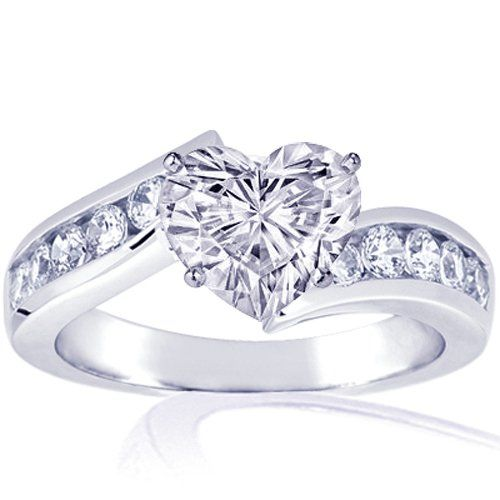 Heart Shaped Engagement Rings - http://www.inspirationsofcardiff.com/heart-shaped-engagement-rings/