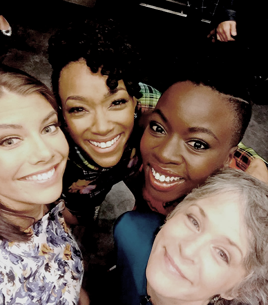 The ladies of The Walking Dead.