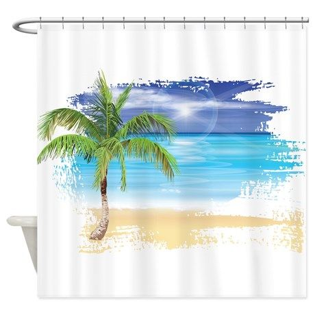 Beach Scene Shower Curtain By Dacswifey Cafepress Beach Baby