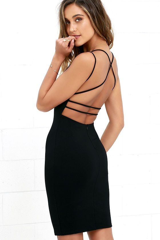Be All Trend All Backless Black Midi Dress In 2018 Prom