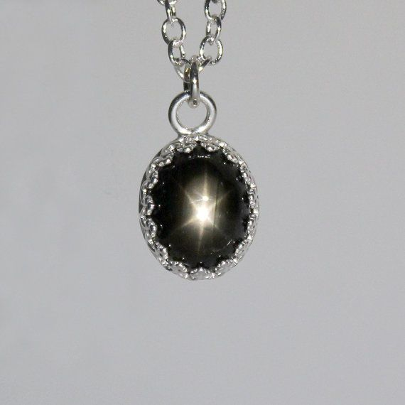 Natural 35ct black star sapphire pendant sterling silver black natural 35ct black star sapphire pendant sterling by tsnjewelry mozeypictures Choice Image