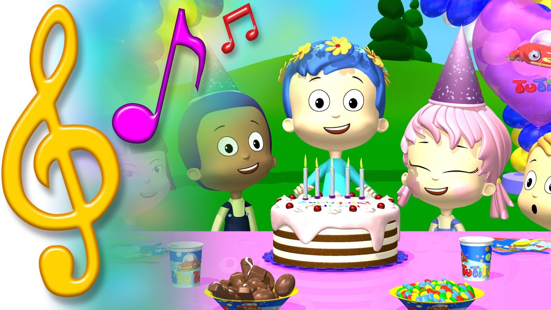 "TuTiTu Birthday Song for Kids. ""happy birthday"" ""happy"
