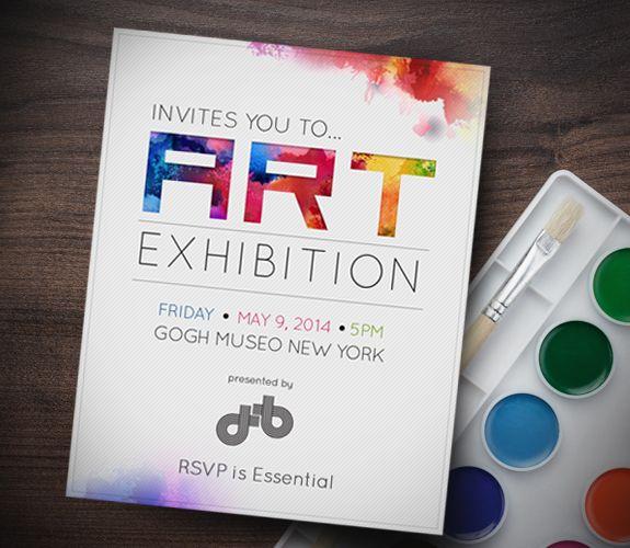 Art Exhibit Invitations Invitations Art Invitation Art Exhibition Posters