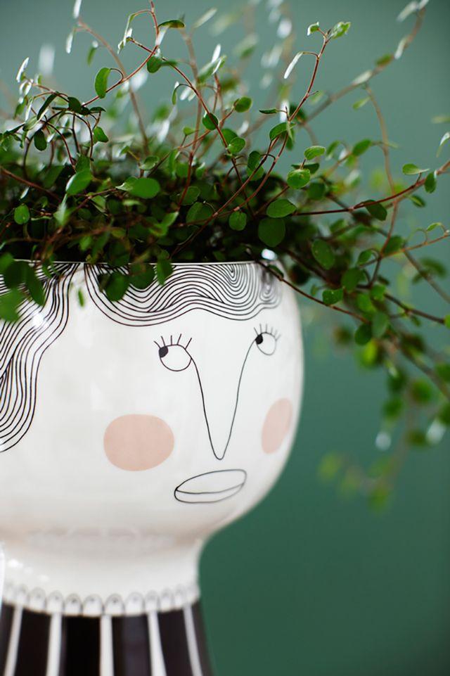 Blumentopf Mit Gesicht Home Decor Inspiration Garten Blumen