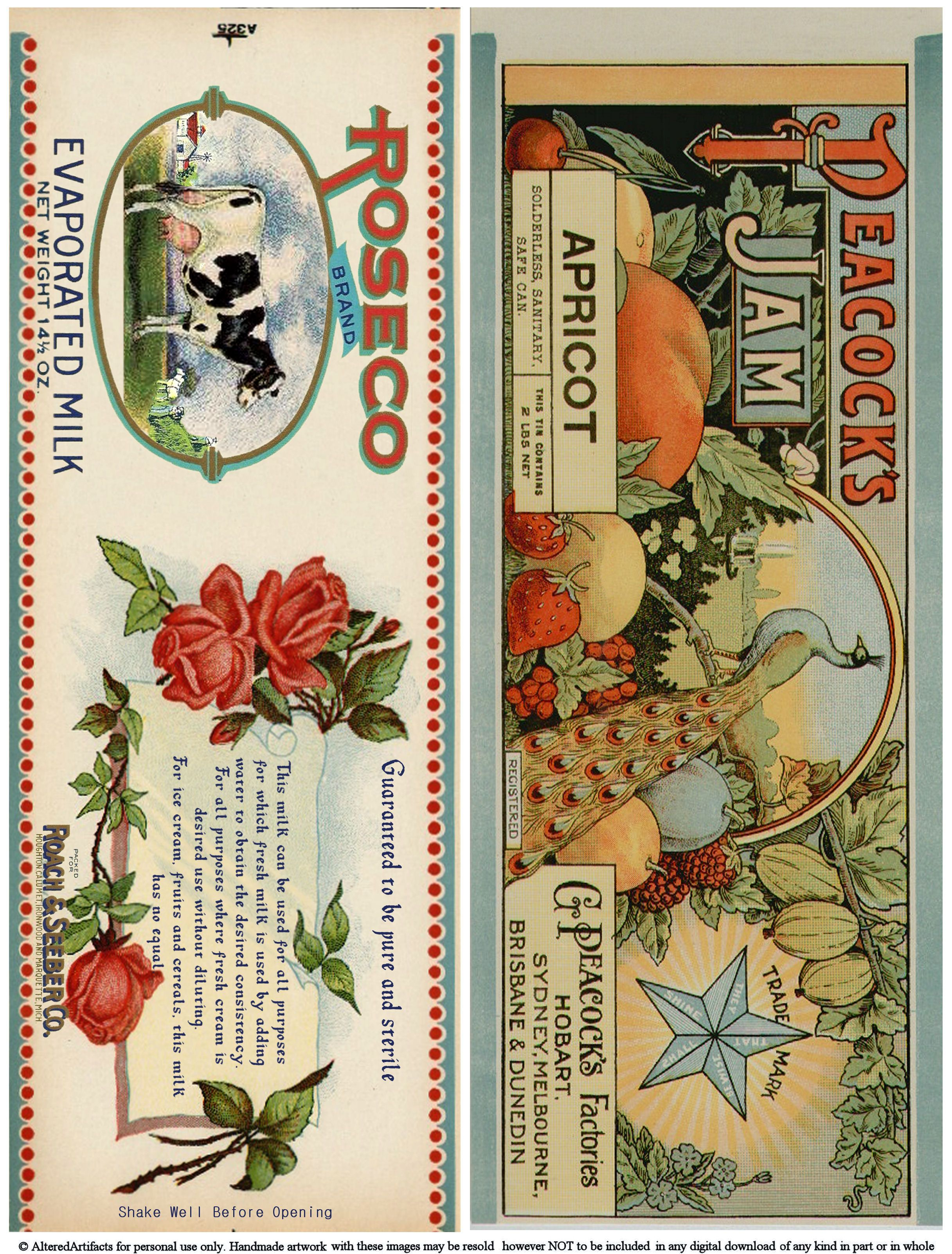 Free Printable Vintage Kitchen Labels