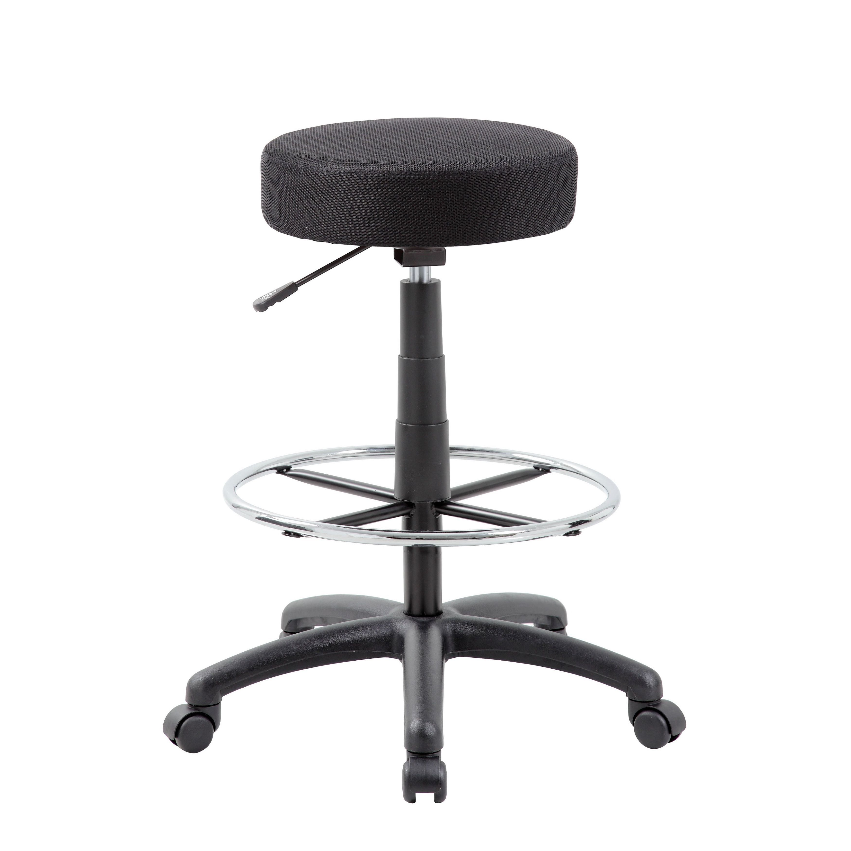 Peachy Boss Dot Adjustable Drafting Stool Black Drafting Chair Dailytribune Chair Design For Home Dailytribuneorg
