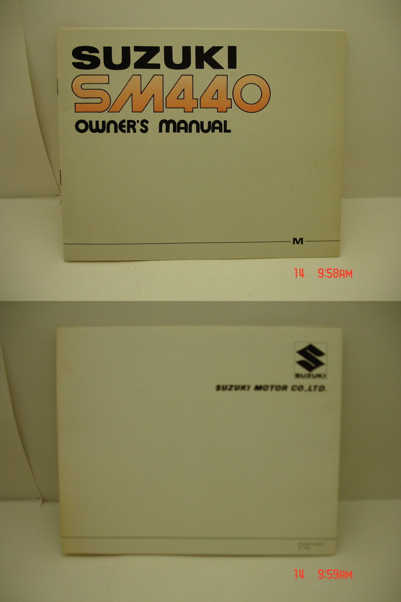 Manuals 26351: 1975 Suzuki Sm440 Snowmobile Owners Manual. Vintage. New ->  BUY