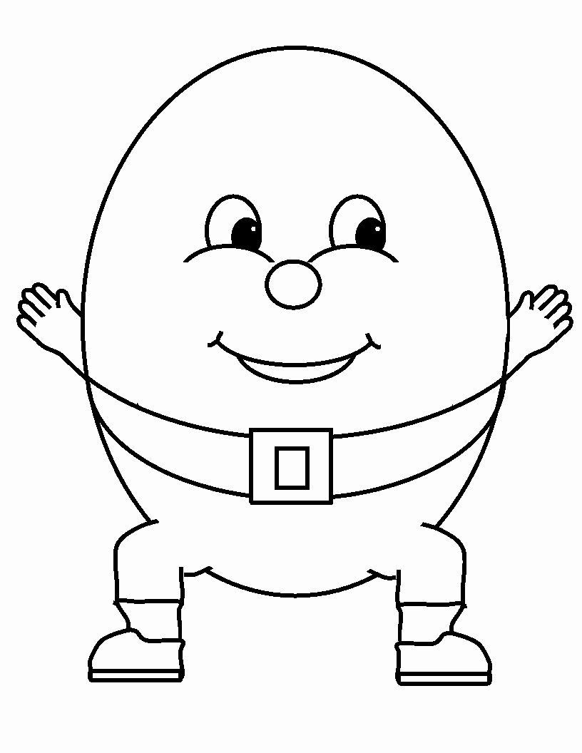 24 Humpty Dumpty Coloring Page Coloring Pages Inspirational