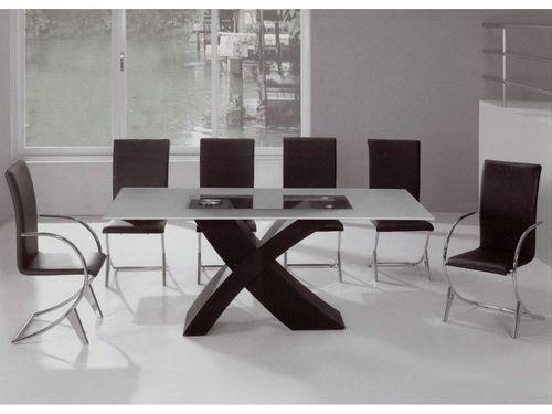 Rectangular Glass Top Dining Table Contemporary Glass Table Set Contemporary Dining Room Tables Modern Dining Room Set Dining Room Table Set