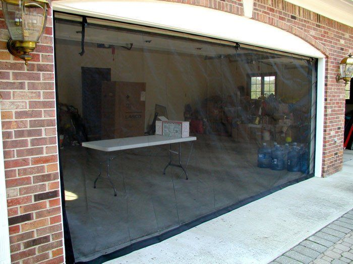 Garage Door Screen Model C Two Zippers Garage Screen Door Retractable Screen Door Storm Doors With Screens