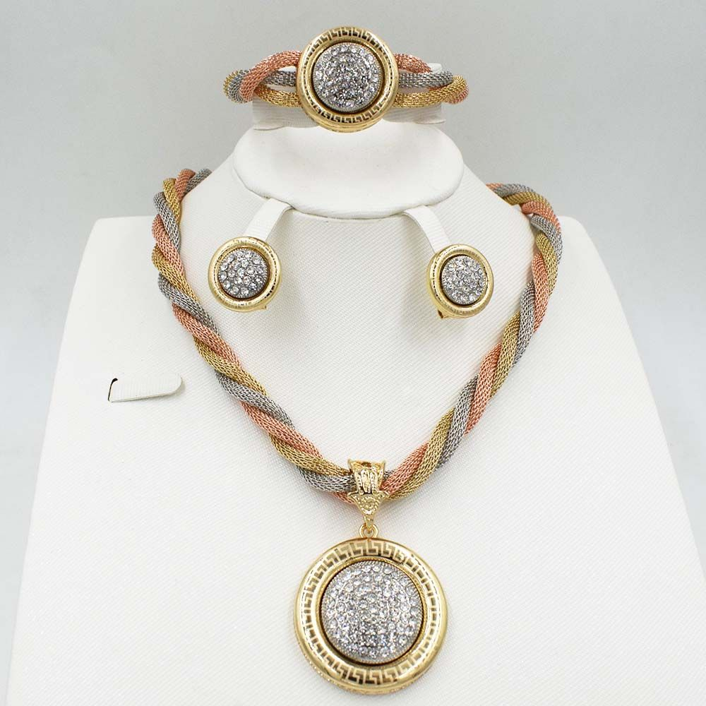Click to buy ucuc new top quality italy dubai jewelry set for