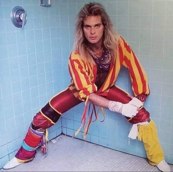 Diamond Dave Mid 80s David Lee Roth Van Halen David Lee