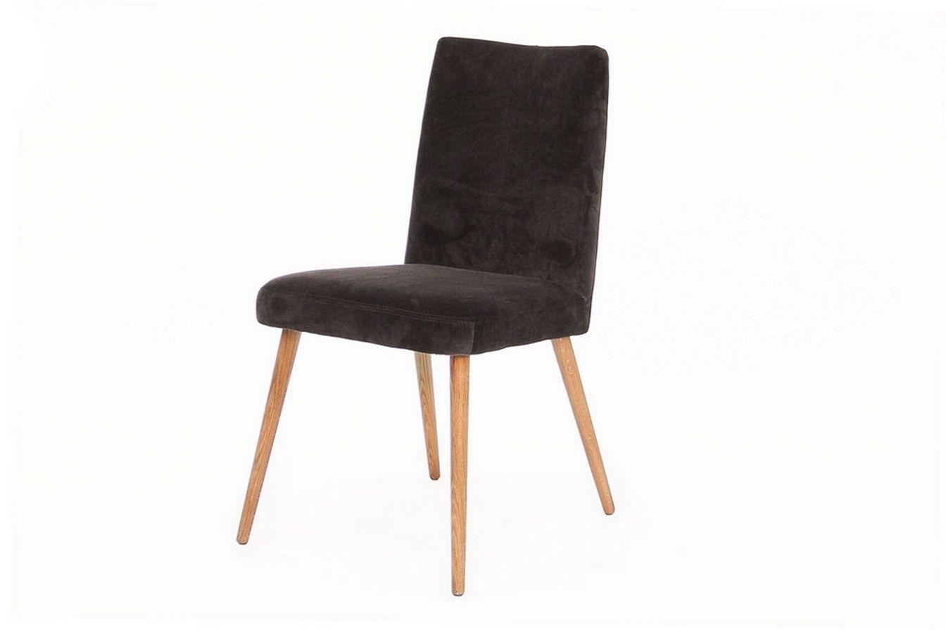 Retro Stuhl Stoff dunkelbraun - Stühle - Sitzgelegenheiten ...