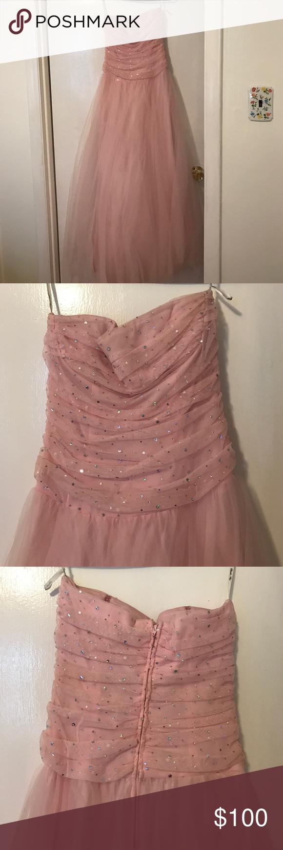 Blondie nites prom dress light pinkstrapless very good