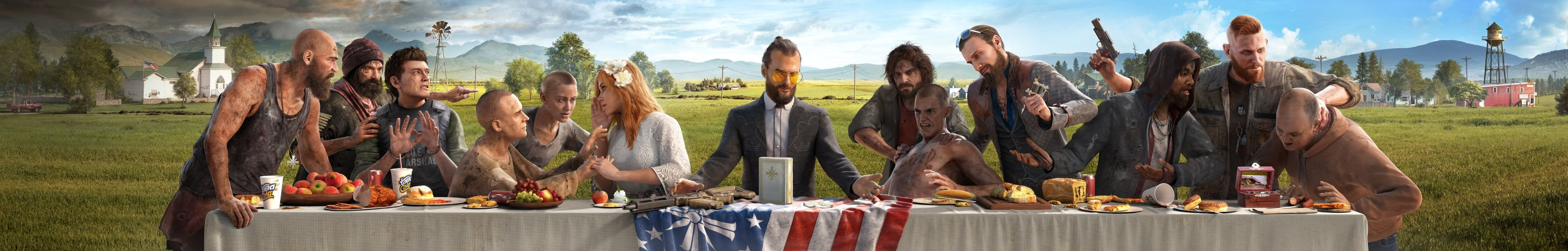 3840x614 Joseph Seed 4k Download Wallpaper Free Far Cry 5 Samsung Wallpaper 8k Wallpaper