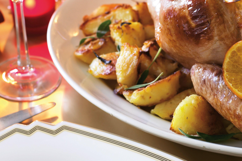 Saffron & Sage Baked Potatoes Recipe - Taste.com.au