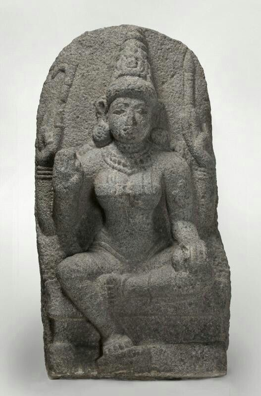 The Hindu deity Indrani  Place of Origin: Southern India  Date: approx. 1100-1200  Materials: Granite