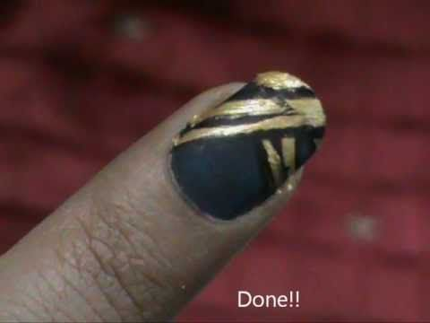 Nail Art For Beginners - easy nail designs for short nails- nail design- home nail art tutorial