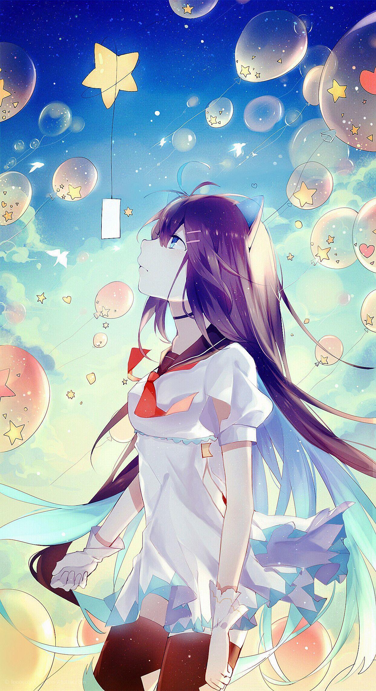 Art By Lococo P Digital Art Anime Anime Art Girl Anime Scenery