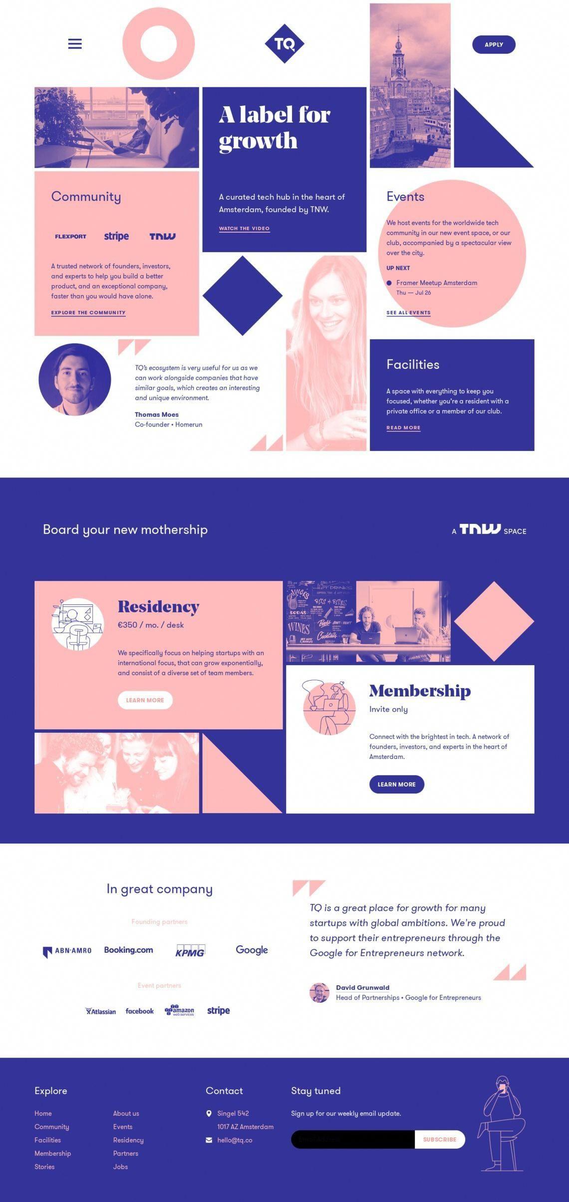 Best Landing Pages Inspiration Tq Co Waveguide Webdesigncompany Creative Web Design Landing Page Design Web Design Tips
